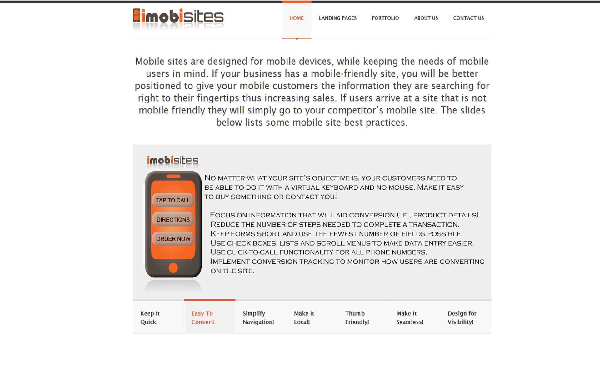 iMobiSites Web Design