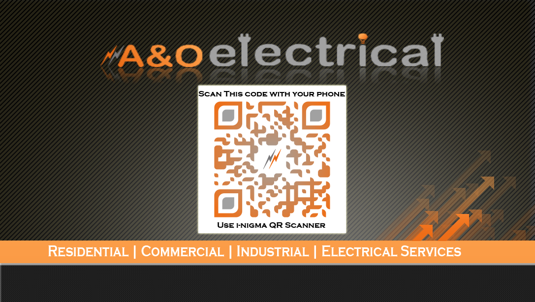 AOElectrical Business Card Design For Electrical Contractor Companies