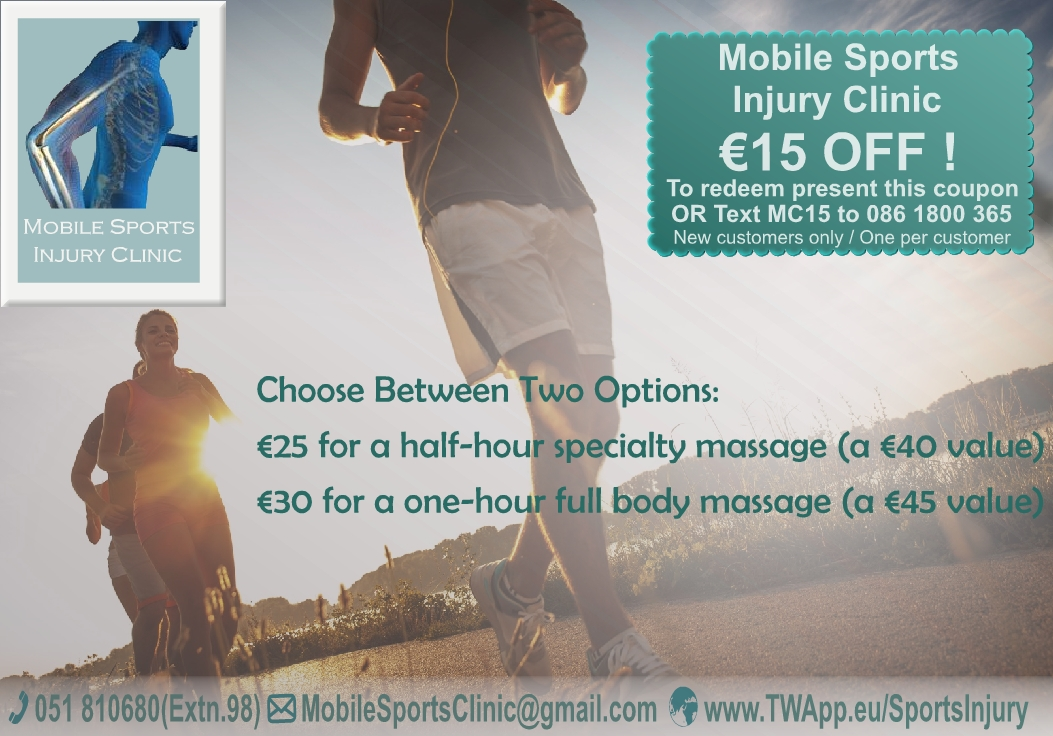 Mobile Sports Injury Clinic Ad Design